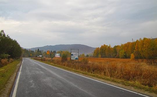 Droga wojewódzka nr 897 w stronę Kalnicy.