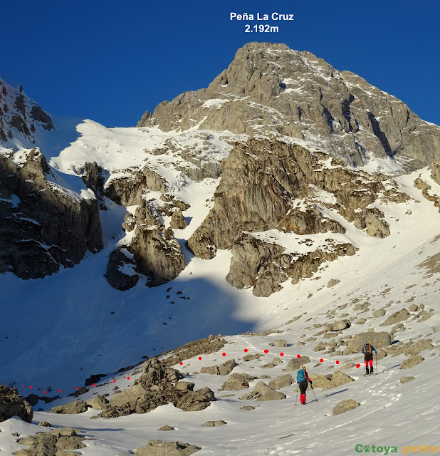 Ruta invernal al Macizo del Mampodre saliendo desde Maraña.