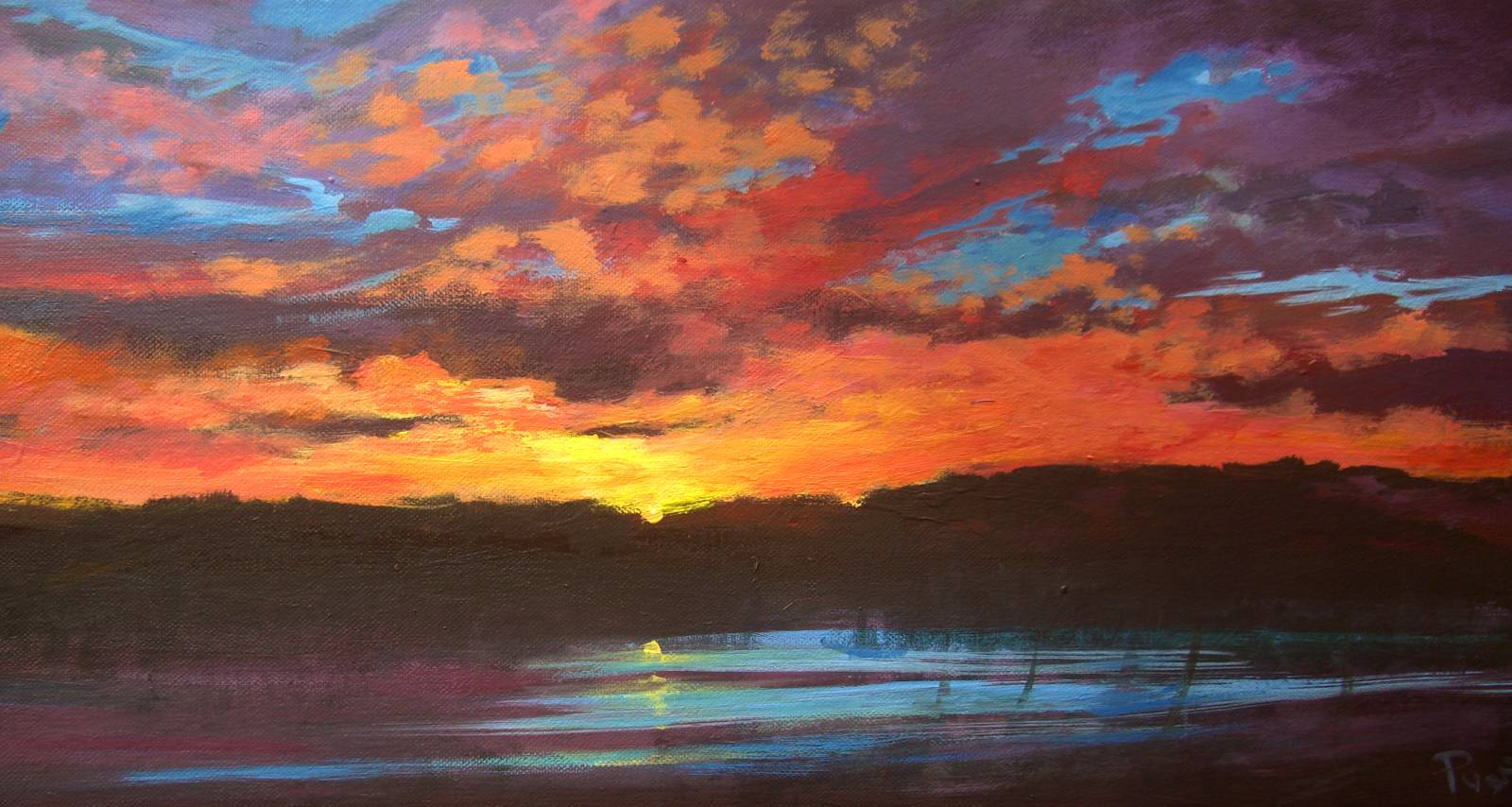 Sunset Paintings By Wendy Puerto
