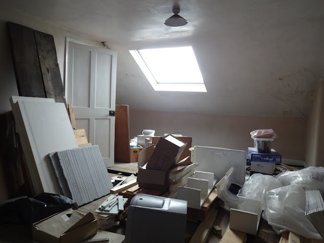 attic bedroom as a dumping ground