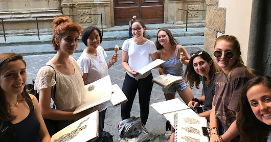 Drawing in Italy!