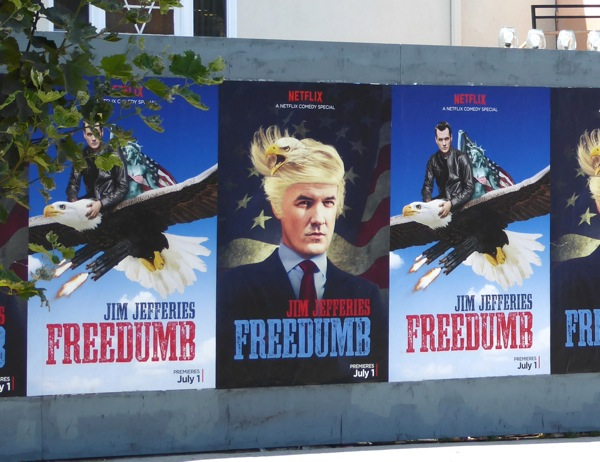 Jim Jefferies Freedumb street posters