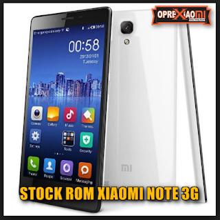 Firmware Xiaomi Redmi Note 3G