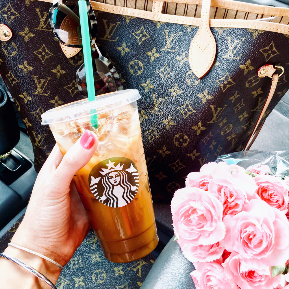 starbucks and flowers