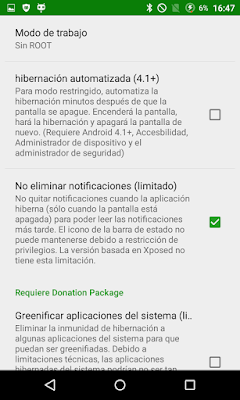 Configurar Greenify en tu dispositivo Android
