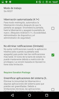 Configurar Greenify en tu dispositivo Android