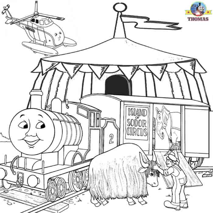 Free Coloring Pages For Boys Worksheets Thomas The Train