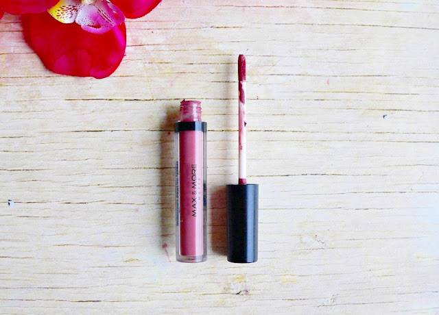Max & More Liquid lipstick matte 03 Deep Nude kit lipliner review swatches