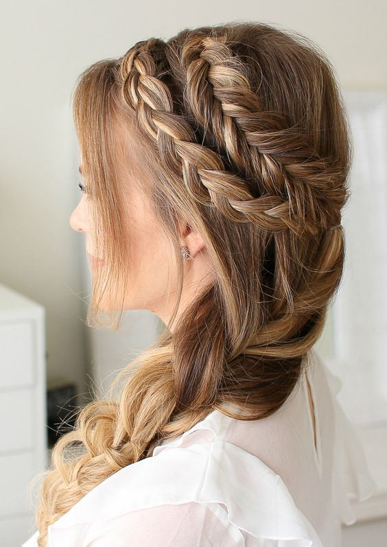 Mixed Dutch and Dutch Fishtail Braid 3 Ways