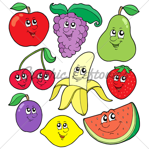 Fruit Cartoon Pictures for Kids