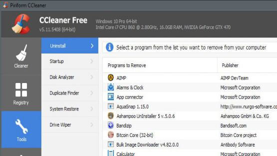 CCleaner for Windows screenshot 2