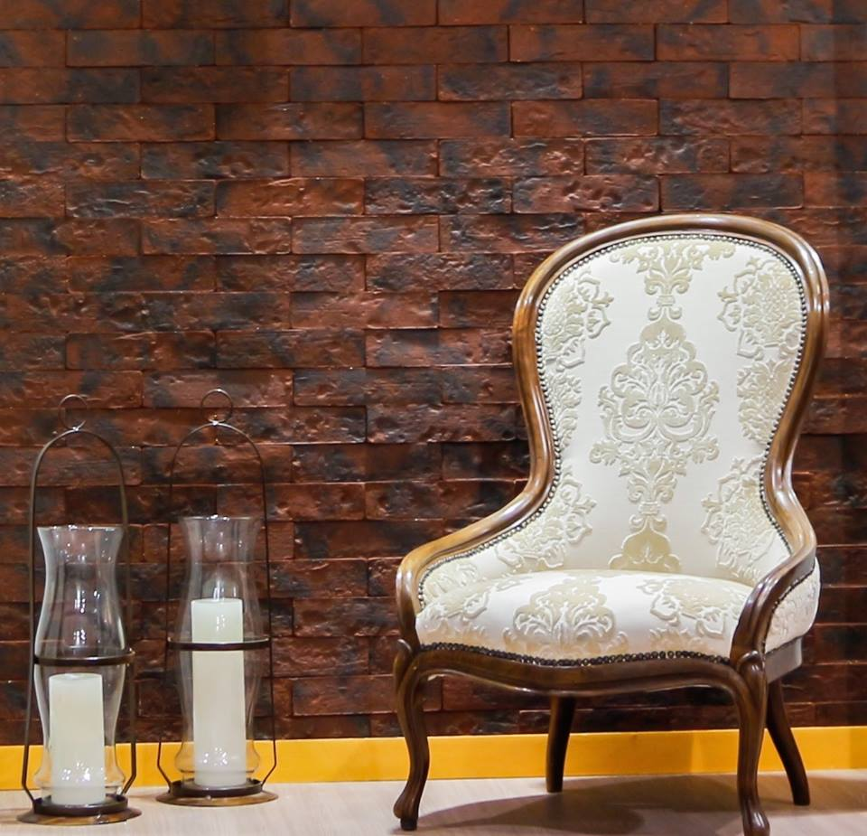Tijolos para revestir paredes e fachadas n o imita o for Papel de pared rustico