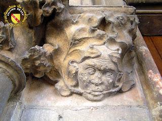 Toul - Cathédrale Saint-Etienne : Mascaron du cloître