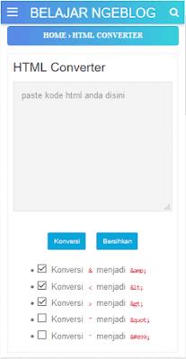 Cara Membuat Tools Converter HTML ( Parse ) Di Halaman Blog