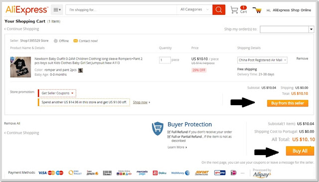 Pay on AliExpress with VISA,MasterCard and others