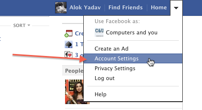 facebook app password generate and use