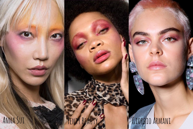 erdem dries von noten dior fenry beauty  versace marni lequan smith Simone Rochas kate spade anna sui tendências de maquiagem 2019