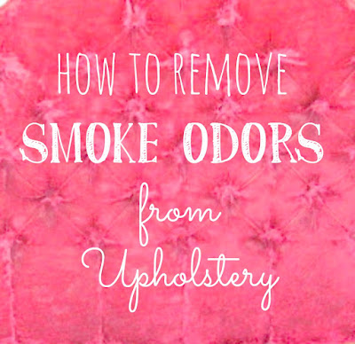 Removing smoke odors from upholstery