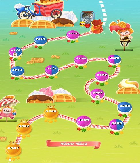 Candy Crush Saga level 3501-3515