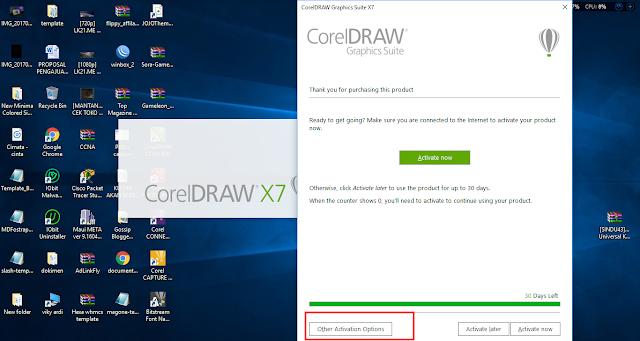 Cara Install Corel Draw X7 serta Crack Dengan Mudah