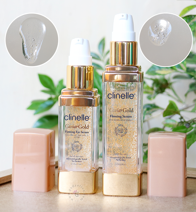 Clinelle Caviar Gold Firming Serum vs Firming Eye Serum