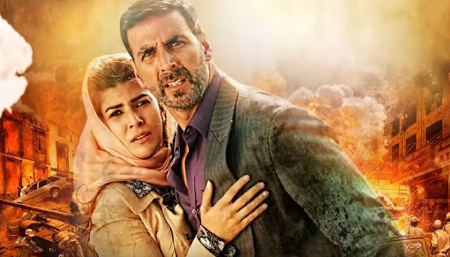 Akshay Kumar and Nimrat Kaur as Ranjit and Amrita Katyal in Airlift
