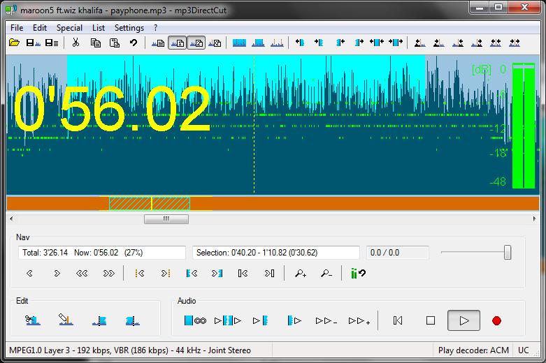 mp3DirectCut: Mengedit File MP3 Dengan Cepat dan Mudah