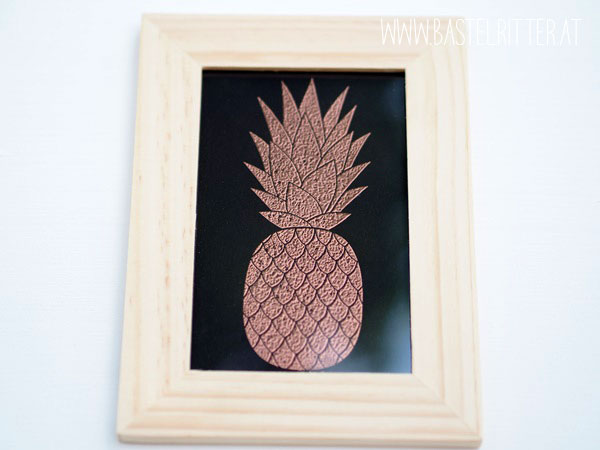 Pineapple Ananas Stampin' up! Bastelritter gold kupfer copper embossed
