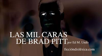 imagen invertida del actor Brad Pitt