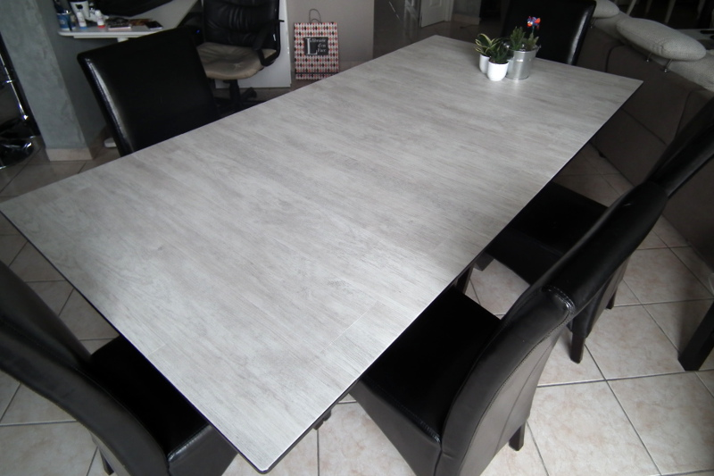 Relooker une table en verre les lubies de caroline - Customiser table en verre ...