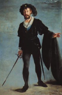 Jean-Baptise Faure as Ambroise Thomas' Hamlet in 1877 by Edouard Manet