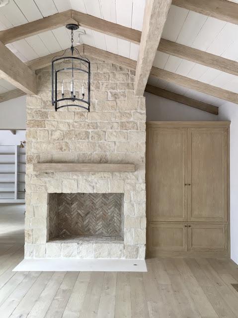 Modern farmhouse renovation in malibu steve brooke for Modern farmhouse fireplace