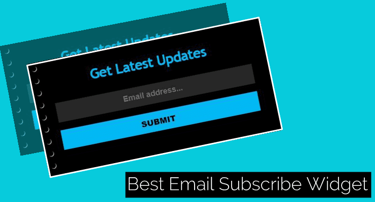 add-email subscribe widget blogger blog