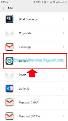 cara buat akun Google di hp xiaomi