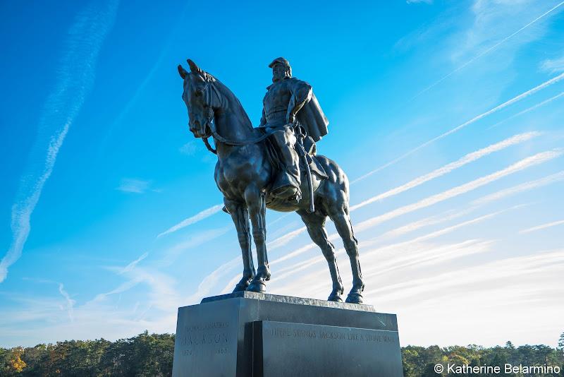 Stonewall Jackson Statue Manassas National Battlefield Park Northern Virginia