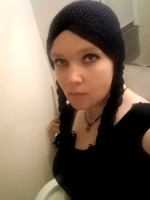 Wednesday Addams Cosplay Hat -- Free Crochet Pattern