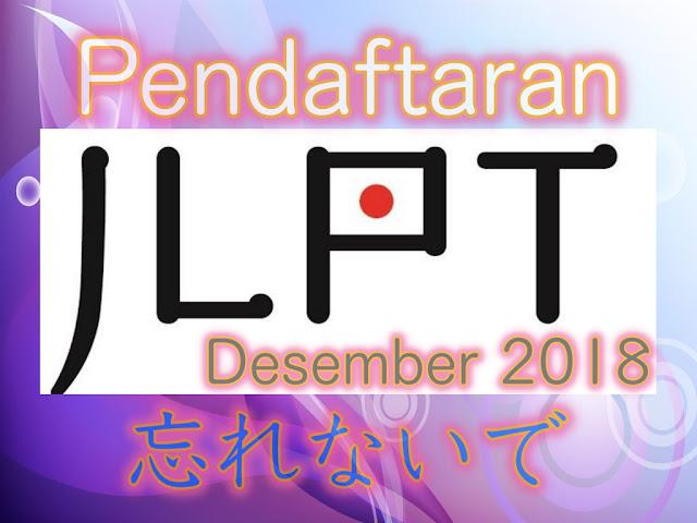 pendaftaran Online JLPT 2018