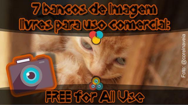 Bancos de imagem livres e comercial