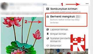 membatasi kiriman facebook