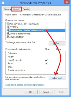 Mengubah Setting Permissions Windows 8