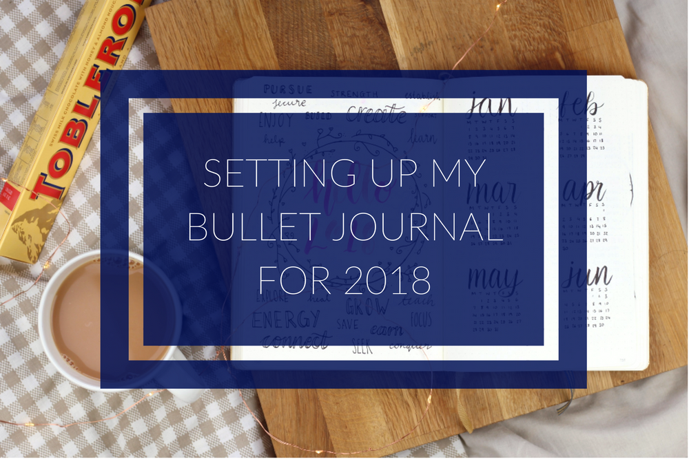 Setting up bullet journal for 2018