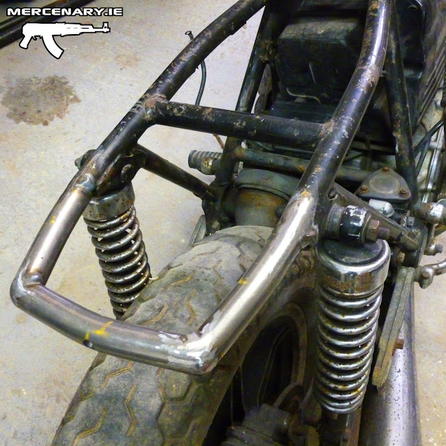 Project XS 850 Sidecar Brat - Rear Frame Loop