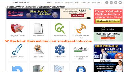 57 Backlink Berkualitas dari smallseotools.com