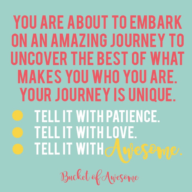 Bucket of Awesome: this is journaling with a twist!  Tell your life story from a positive and uplifting perspective.