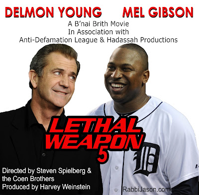 Delmon Young and Mel Gibson