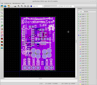 KiCad's gerbview free open source Gerber file viewer for Linux