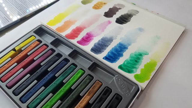 Derwent Inktense Block Swatches
