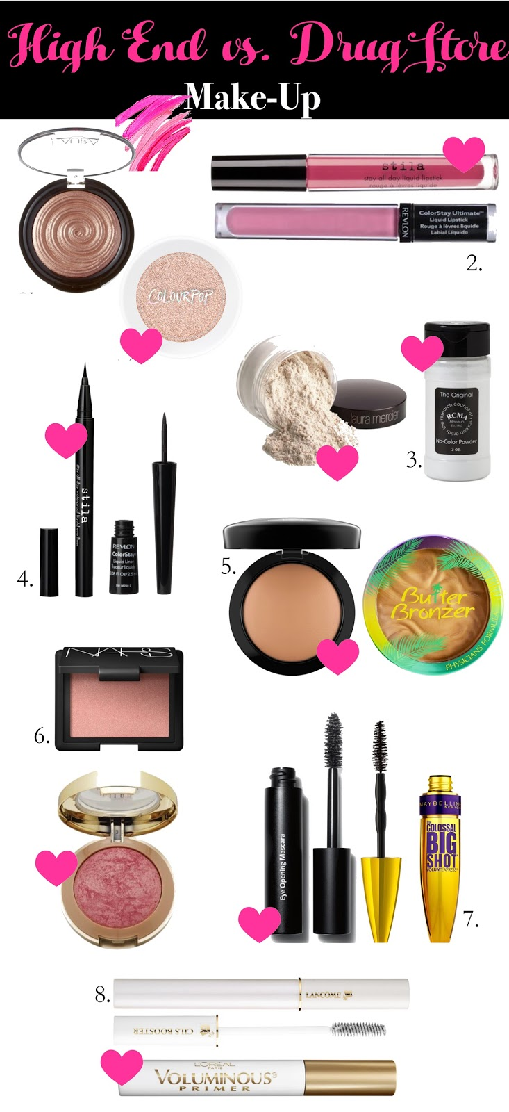 High End Makeup Dupes You