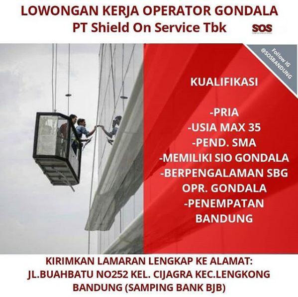 Lowongan Kerja Operator Gondala di Bandung