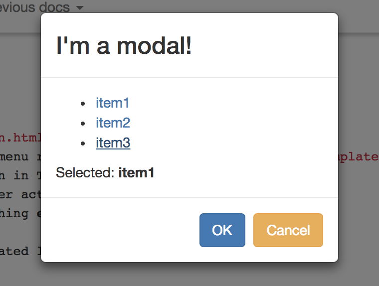 Open a modal in AngularJS using $uibModal Service
